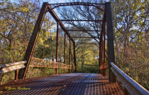 Front View of the Autumn Bridge