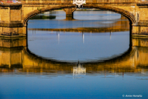 Reflections in the Arno, Florence