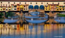Reflections in the Arno, Ponte Vecchio