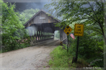 Keniston Covered Bridge in the rain...