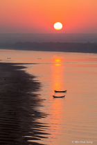 Sunrise at the Irrawaddy River