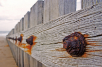 A fence on the beach