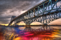 Grand Island Bridge with Crystal Refractions