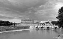 Bridge to the castle, Rome