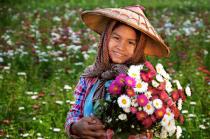 Flowers & girl