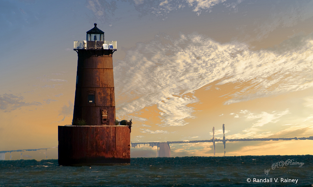 Bloody Point Lighthouse on the Chesapeake Bay