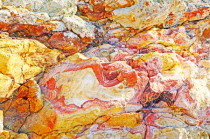 Colorful rock formation.