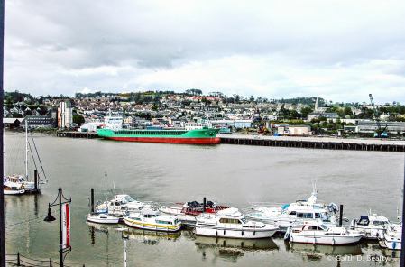 Looking Across the River Suir, in Waterford,