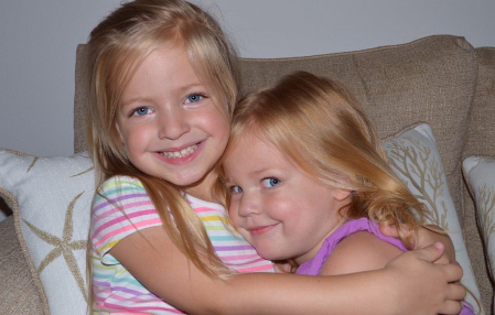 Abigail is Molly hugs