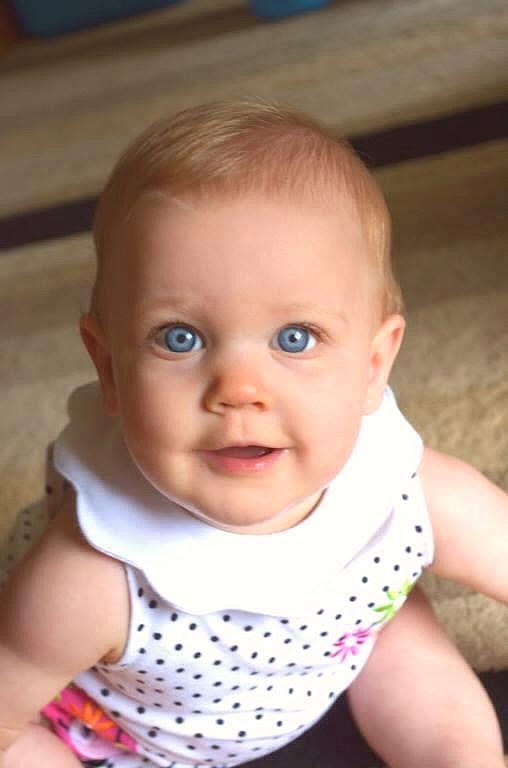 Molly is blue eye is grandchild is G.G. Leger