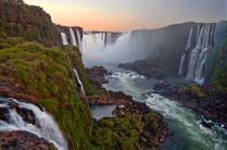 Iguazu Falls Argentina at Sunset