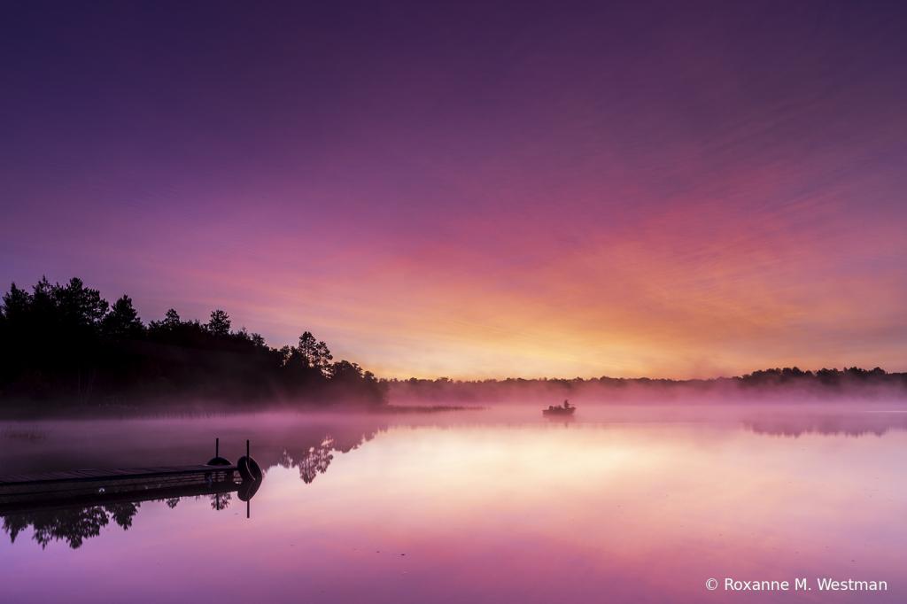 Minnesota lake art on Foggy Morning - ID: 15854509 © Roxanne M. Westman