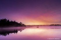 Minnesota lake art on Foggy Morning