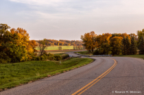 Fall drive through the valley