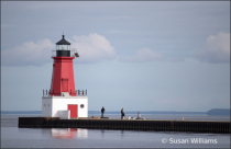 North Pier Lighthouse on the Bay of Green Bay