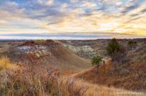 Wind through the North Dakota badlands