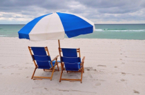Umbrella is Pensacola Beach