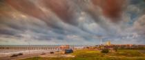 Morning after a Galveston hurricane