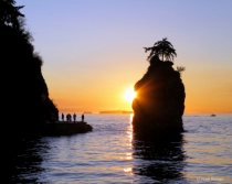 Sea wall sunset, Vancouver BC