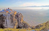 Monasteries on top of the rocks. Meteora.