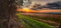 """""""Autumn Sunset Over the Field"""""""