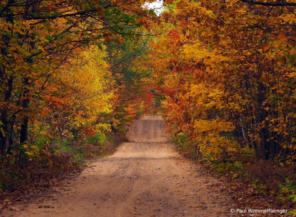 A Dirt Road Challenge in Fall