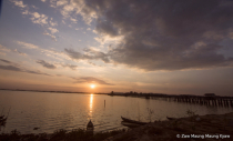 sunset mandalay u paling bridge
