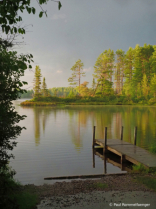 Northern Lake Before the Storm