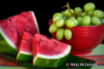 Summer Fruit - Watermelon and Grapes - No 2