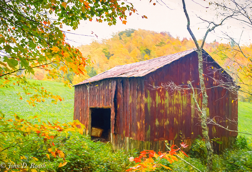 Farm Shed in Autumn