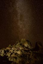 Rock Mountain Starry Night
