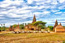 Beautiful bangan myanmar landscape photo