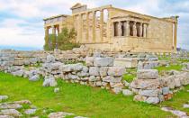Erechtheum Temple in Acropolis.