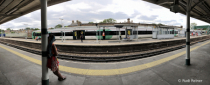Waiting for the train, London