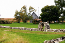 Stone Fence with Archway