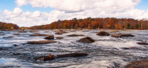 Low on the water of the James River in Autumn