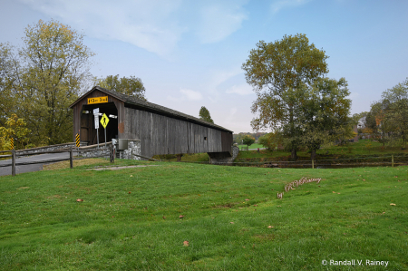 Hunsecker Mill Covered Bridge side view...