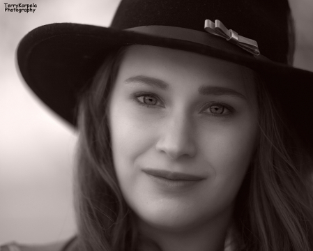 Close Up B&W Portrait