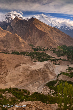 Hunza Valley from Eagle