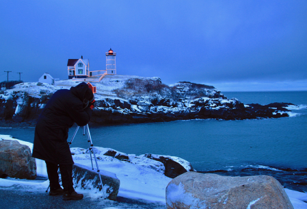 Photographing the Nubble Lighthouse