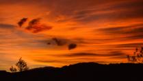 The desert sky in autumn