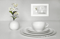Still Life with Dishes and Flowers