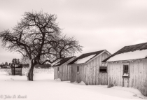 Migrant Bunk Houses in Winter