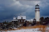 Cape Cod Light, First Snow
