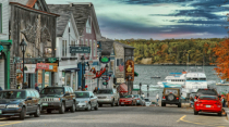 Down a Street In Bar Harbor