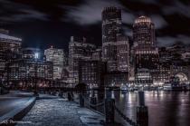 Cold Winter Night at Boston Seaport