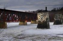 Frozen Kennebec River