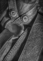 Hand Tooled Saddle Leather