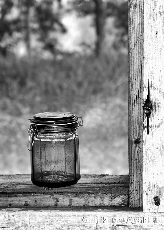 Canning Jar in Window