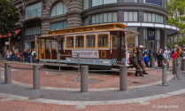 Turning the Cable Car, San Francisco